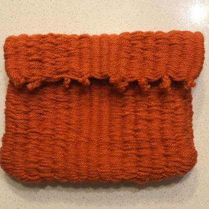 Handmade Dark Orange Handbag or Pur..