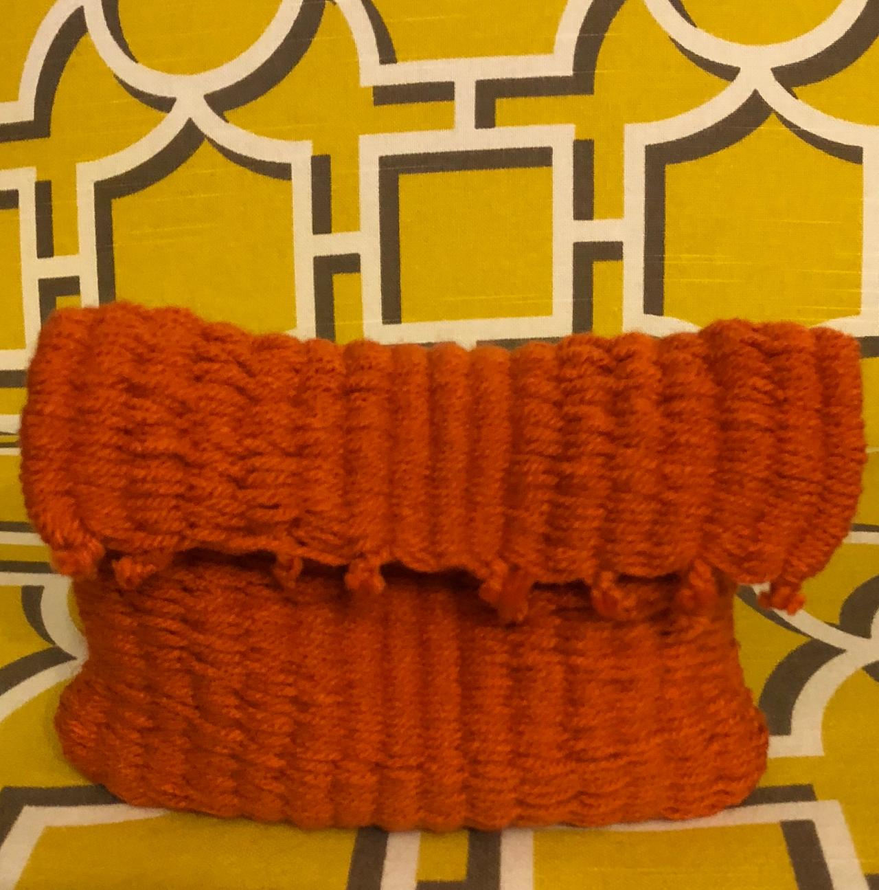Handmade Dark Orange Handbag or Purse