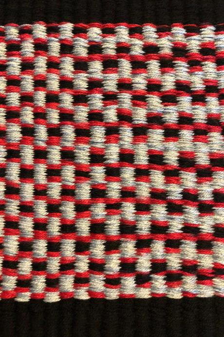 Red Black and Grey Door kitchen bath #mat #rug #doomat #handmade