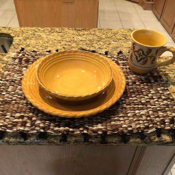 Handmade Brown and Neutrals Place Mat