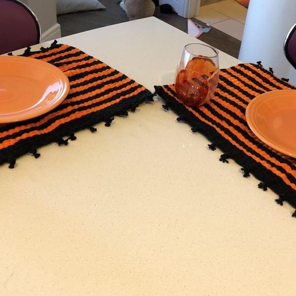 Handmade Halloween Place Mats (Set of 2)