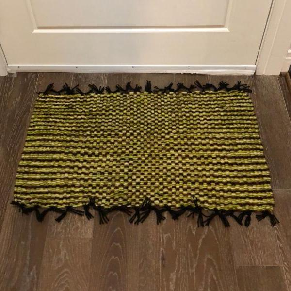 Hunter Green Handmade Door Bath Kitchen Mat or Rug