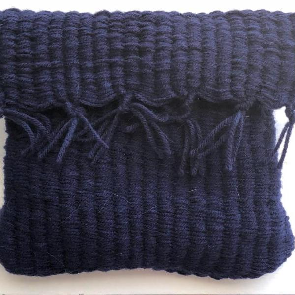 Navy Blue Handmade Clutch Purse / Hand Bag or Toiletries / Makeup Bag